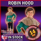 BOYS KIDS WORLD BOOK WEEK / DAY CHILDREN'S FANCY DRESS: BOYS ROBIN HOOD COSTUME MED AGE 6-8